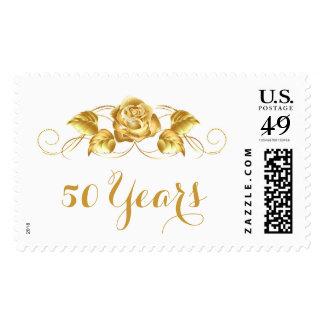 50 años de sellos de oro del aniversario