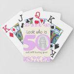 50 años del cumpleaños de sistema de naipe cartas de juego