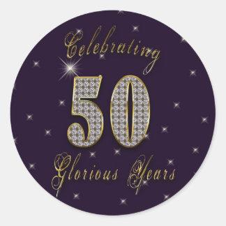 50 años gloriosos - pegatinas de la celebración