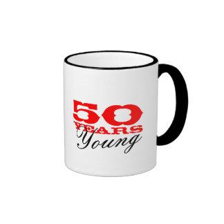 50 años lindos de taza joven para la 50 a fiesta d