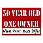50 años, un dueño - las piezas de las necesidades, tarjeton