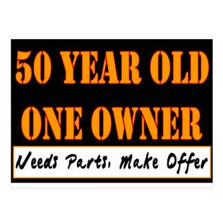 50 años, un dueño - las piezas de las necesidades, postal