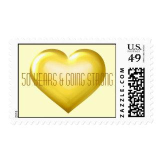 50 años y aniversario fuerte del corazón del oro envio