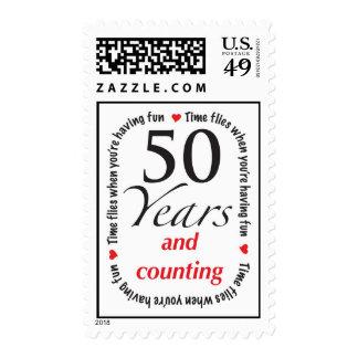 50 años y cuenta del sello del aniversario