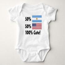 50% Argentinian 50% American 100% Cute Baby Bodysuit