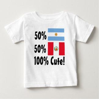 50% Argentinian 50% Peruvian 100% Cute Baby T-Shirt