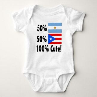 50% Argentinian 50% Puerto Rican 100% Cute T-shirt