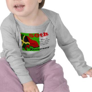 50.as camisetas del bebé del aniversario de
