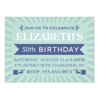"""50.as invitaciones de la fiesta de cumpleaños de invitación 5.5"""" x 7.5"""""""