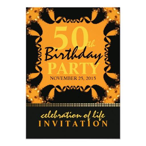 50.as invitaciones de la fiesta de cumpleaños del invitaciones personalizada