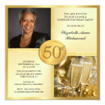 50.as invitaciones de la foto de la fiesta de invitación personalizada