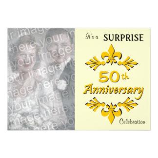 (50.as) invitaciones de oro de la fiesta de aniver invitacion personalizada