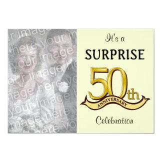 """(50.as) invitaciones de oro de la fiesta de invitación 5"""" x 7"""""""