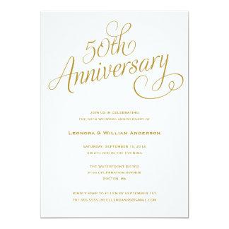 50.as INVITACIONES del ANIVERSARIO de BODA del | Invitación 12,7 X 17,8 Cm