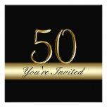 50.as invitaciones del cumpleaños del metal de la  invitación personalizada