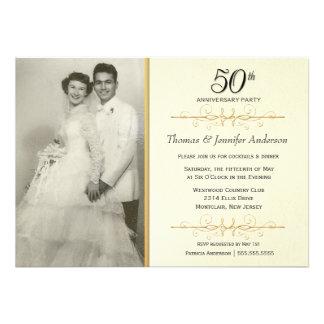 50 as invitaciones elegantes de la fiesta de anive comunicados personales