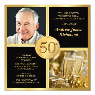 50 as invitaciones elegantes de la fiesta de cumpl comunicados personales