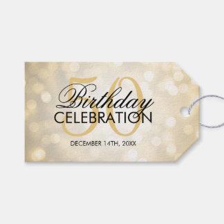 50.as luces elegantes del brillo del oro de la etiquetas para regalos