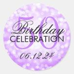 50.as luces púrpuras elegantes del brillo de la etiqueta redonda