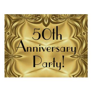50.as postales de la invitación del aniversario de