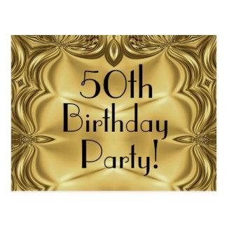 50 as postales de la invitación del cumpleaños del