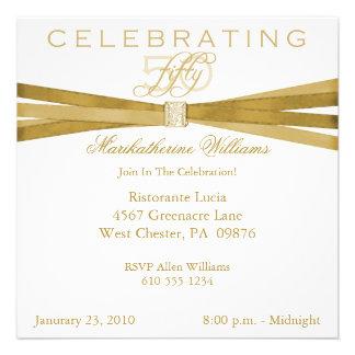 50 as quincuagésimas invitaciones elegantes de la invitaciones personales