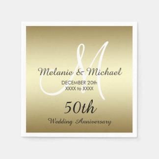 50.as servilletas de papel del aniversario de boda