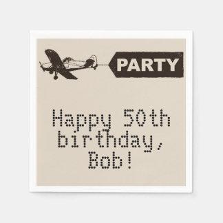 50.as servilletas felices de la fiesta de servilleta desechable