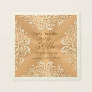 50.as servilletas personalizadas del aniversario servilleta de papel