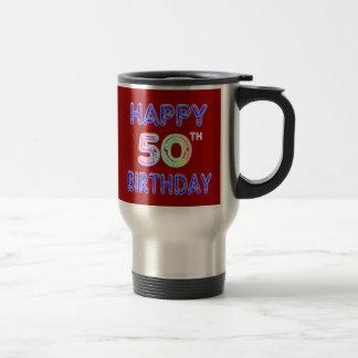 50.as tazas felices de la taza y del viaje de café