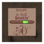 50.as todavía invitaciones Smokin del cigarro del  Invitación Personalizada