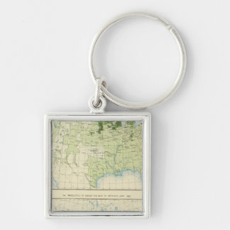 50 Barley 1890 Silver-Colored Square Keychain