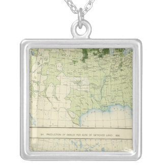 50 Barley 1890 Square Pendant Necklace
