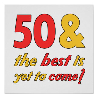 50 Best Birthday Gifts Poster