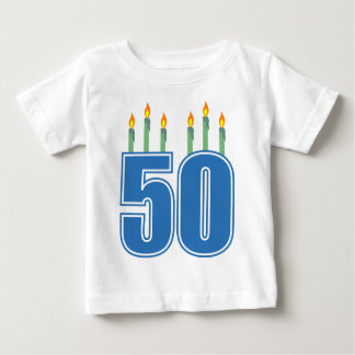 50 Birthday Candles (Blue / Green) Baby T-Shirt