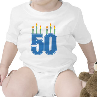 50 Birthday Candles (Blue / Green) Baby Creeper