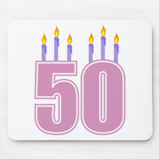 50 Birthday Candles (Pink / Purple) Mouse Pad