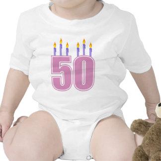 50 Birthday Candles (Pink / Purple) Romper