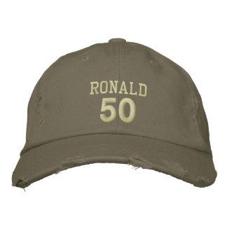 50 Birthday Custom Name KHAKI GREEN V03 Baseball Cap