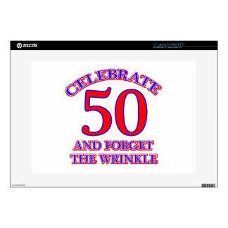 "50 Birthday Design 15"" Laptop Decal"