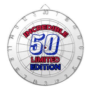50 Birthday Design Dartboard With Darts