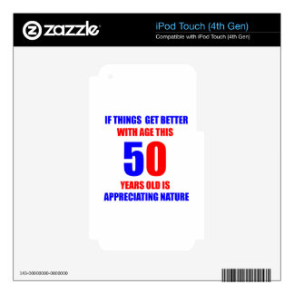 50 Birthday Design Decals For iPod Touch 4G