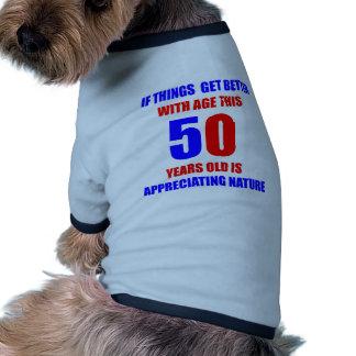 50 Birthday Design Dog T Shirt