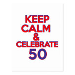 50 birthday design postcards