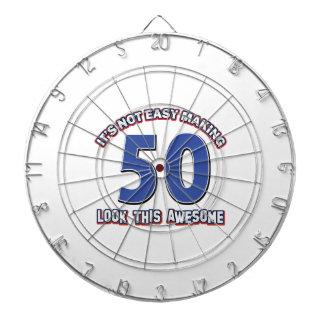 50 Birthday Designs Dartboard