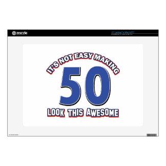 "50 Birthday Designs Skin For 15"" Laptop"