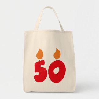 50 birthday tote bag