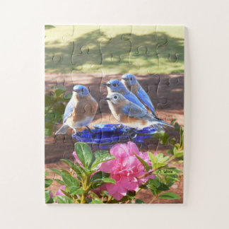50 Bluebirds Forever Puzzle 11x14 Kids