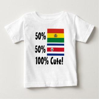 50% Bolivian 50% Costa Rican 100% Cute Baby T-Shirt