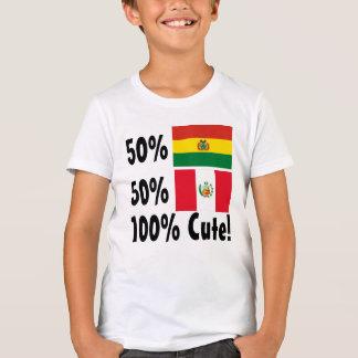 50% Bolivian 50% Peruvian 100% Cute T-Shirt
